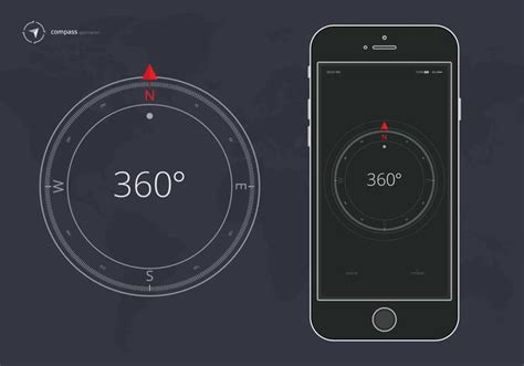 Compass Mobili by Compass On Background Compass Application On Mobile