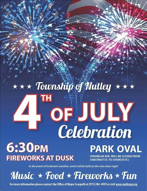 celebrate fourth of july with celebrate 4th of july 2017 at the nutley park oval nutley nj news tapinto