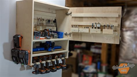 diy drill storage cabinet buildsomethingcom