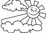 Sun Coloring Printable Sunshine Topic Related sketch template