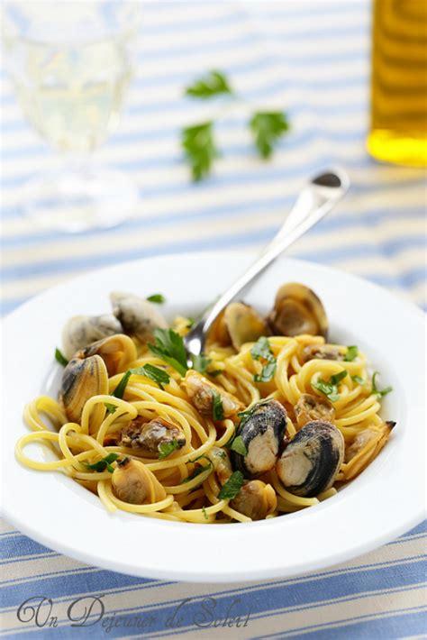 spaghetti alle vongole aux palourdes comme en italie
