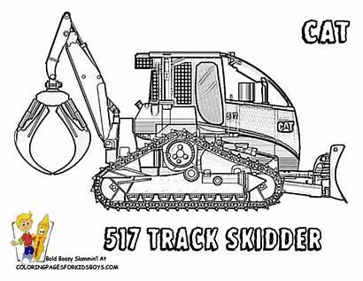 Coloring Construction Skidder Ausmalbilder Baumaschinen Vehicle Caterpillar