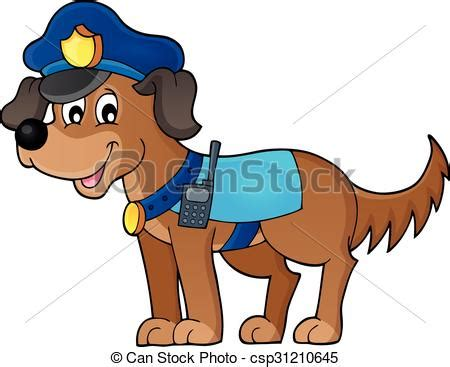 police dog theme image  eps vector illustration