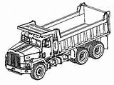 Coloring Truck Dump Pages Semi Drawing Trailer Construction Monster Axle Double Printable Colouring Digger Garbage Rig Trucks Peterbilt Flatbed Clipartmag sketch template