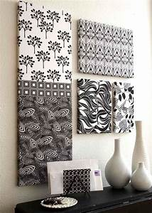 Unique fabric wall art ideas on styrofoam