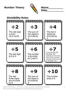 divisibility activities 4th grade math review