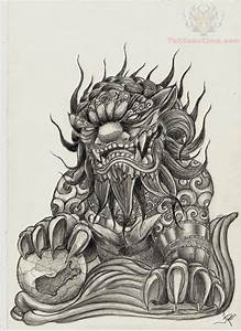Foo Dog Tattoo Images & Designs