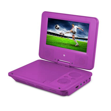 portable player ematic 7 in portable dvd player with colored headphones