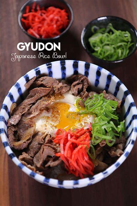 easy gyudon japanese beef rice bowl recipe video