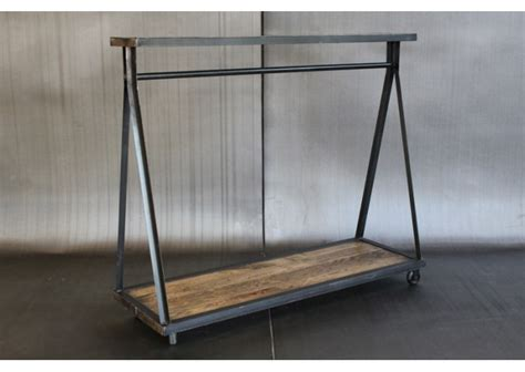 metal clothing racks i need to date someone who can make me this metal and wood garment rack hidden apartment ideas