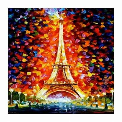 Tableau Eiffel Contemporain Tower Colorful Peinture Painting