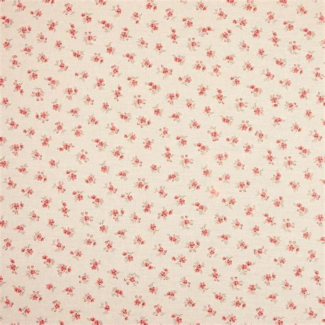 tissu liberty coton lin taupe rouge lily rose