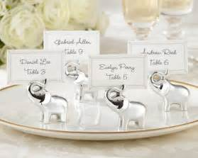 elephant wedding favors quot lucky in quot silver finish lucky elephant place card photo holder set of 4