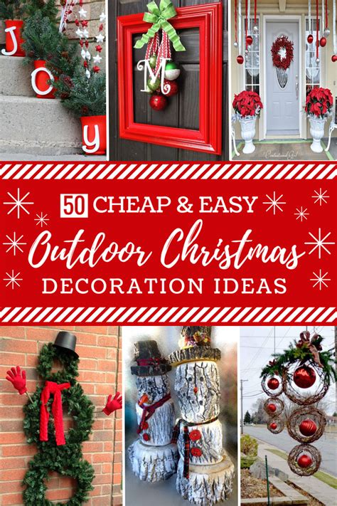 outdoor diy decorations 50 cheap easy diy outdoor christmas decorations prudent penny pincher