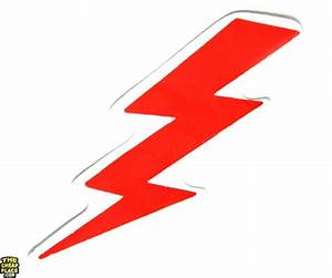Red Lightning Bolt Sticker | Military Stickers - TheCheapPlace