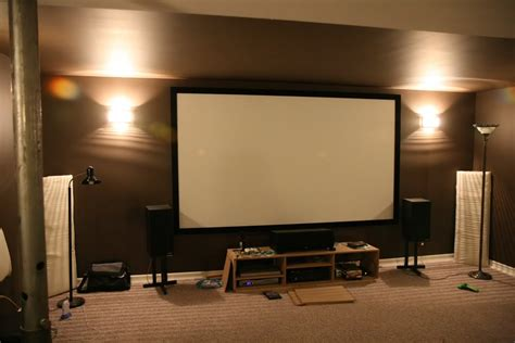 diy entertainment unit   projector screen