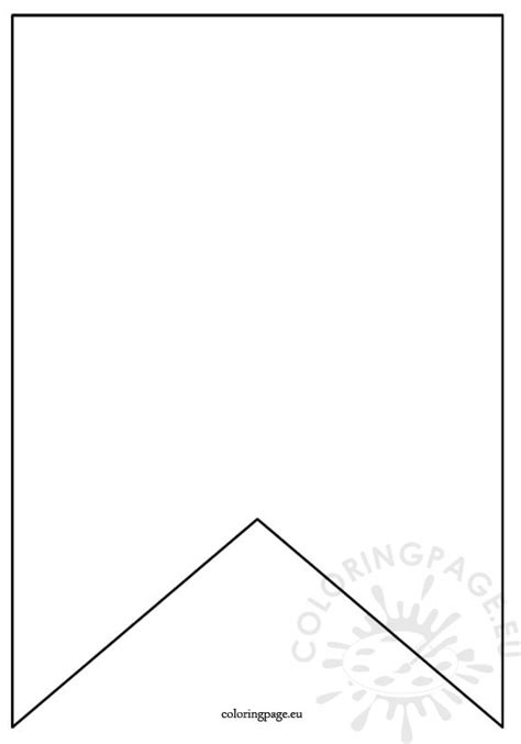 pennant template flag banner template coloring page