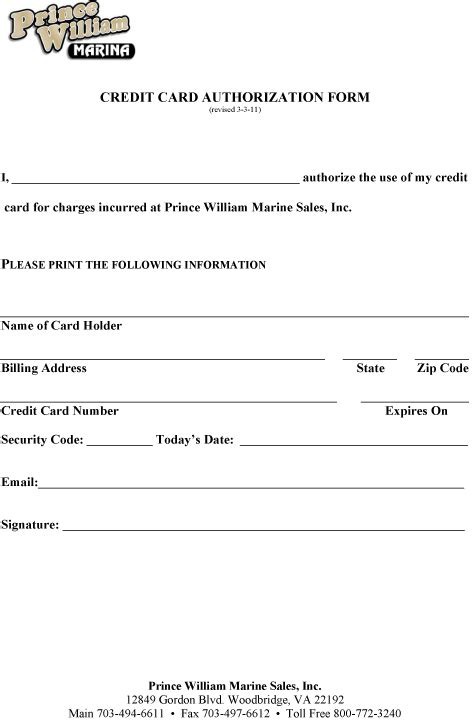 credit card authorization some more info about credit card authorization form template word