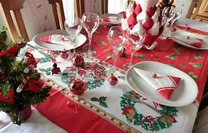 Dcoration Table De Noel Rouge Et Blanc Avec