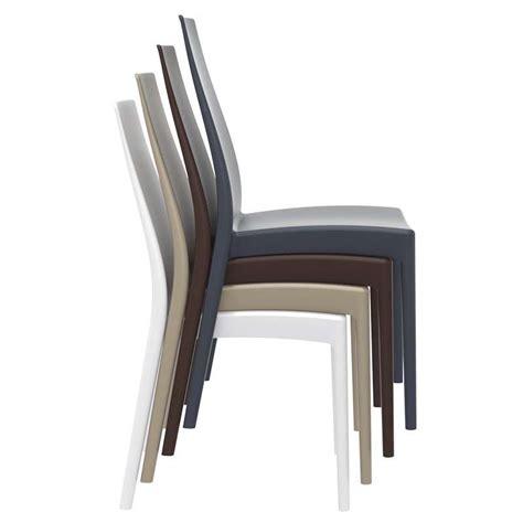 chaise en polypropylène chaise empilable en polypropylène miranda 4 pieds