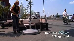Schirmständer Mit Rollen Selber Bauen : liro der mobile sonnenschirmst nder de youtube ~ A.2002-acura-tl-radio.info Haus und Dekorationen