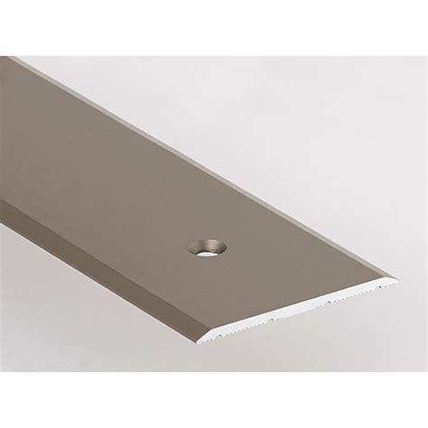 seuil de porte plat perc 233 aluminium titane 40 mm x 2 70 m romus 1573