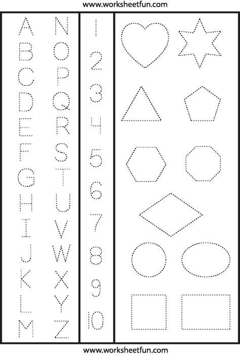 tracing worksheets preschool shape tracing