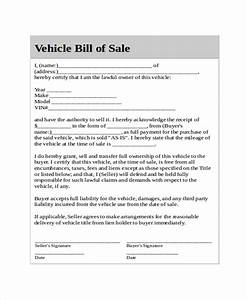 generic bill of sale template 8 free word pdf document With bill of sale template for a car