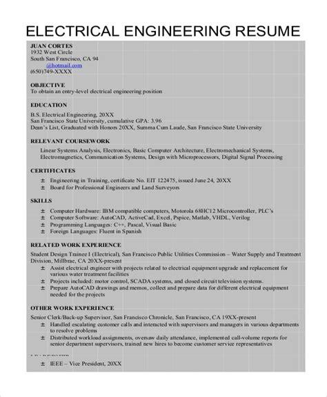 sample engineer resume templates  ms word