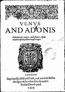 Venus and Adonis (Shakespeare poem) - Wikipedia