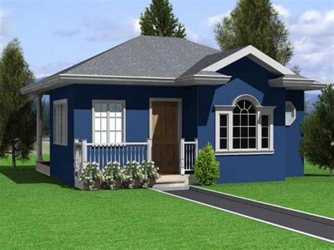 Design Small Home by Single Storey Small Residential House Home Design