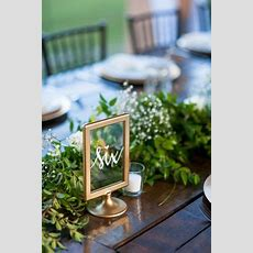 Florida Rustic Glam Wedding  Table Numbers Wedding