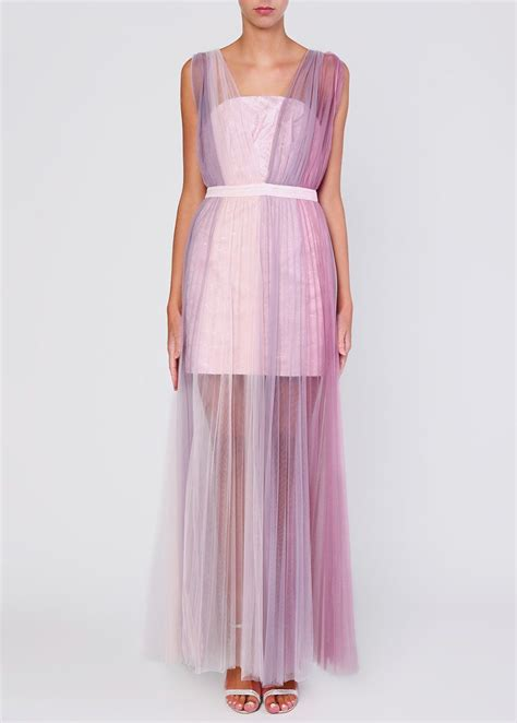 Lilac Ombre Tulle Maxi Dress | Tulle maxi dress, Tulle ...