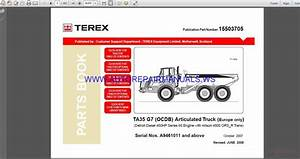 Terex Ta35 G7 Parts Book Manual