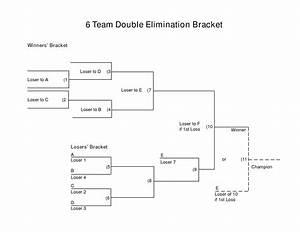 Blank 6 Team Double-Elimination Bracket | Tags : 5 team ...