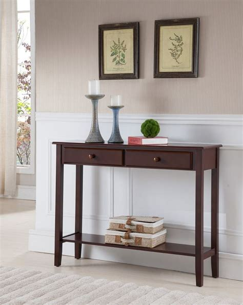 Foyer Tables With Storage by Narrow Console Table With Storage Advantages Homeindec