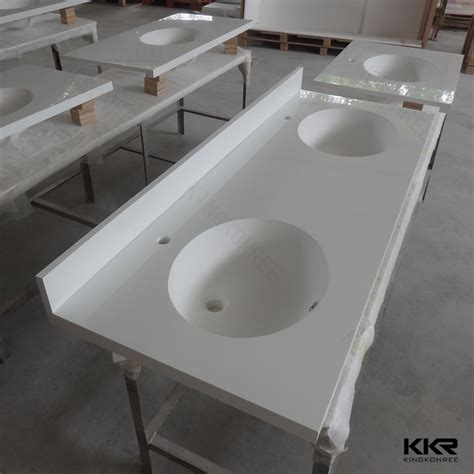 bathroom countertop with built in sink seamless joint solid surface bathroom countertops with