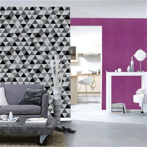 papier peint g 233 om 233 trique triangles noir et blanc gris