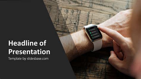 smartwatch powerpoint template slidesbase