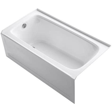 5 foot tub kohler bancroft 5 ft acrylic left drain rectangular