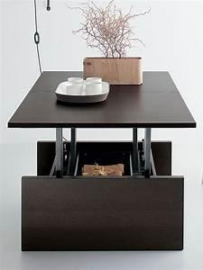 Table Haute Avec Rangement : table basse relevable avec rangement ~ Teatrodelosmanantiales.com Idées de Décoration