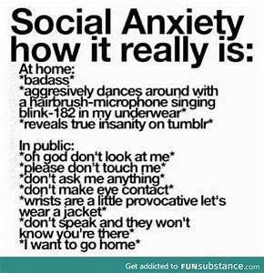 FunSubstance - ... Funny Social Anxiety Quotes