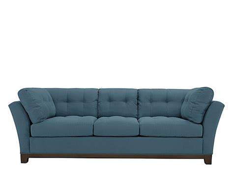 cindy crawford home metropolis microfiber sofa
