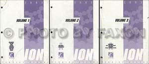 2004 Saturn Ion Repair Shop Manual 3 Volume Set Original