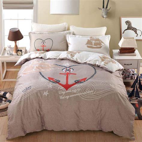 2017 Sailing Ship Boat Anchor Design Bedding Set Queen