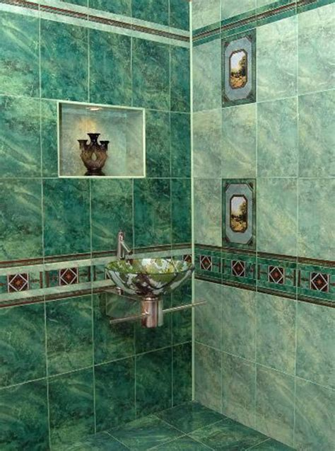 green marble bathroom tiles ideas  pictures