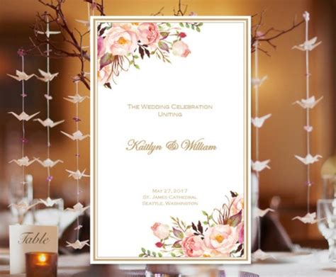 catholic wedding program examples templates