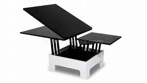 Table a rallonges hauteur modulable zebra mobilier moss for Table de salle a manger modulable pour petite cuisine Équipée
