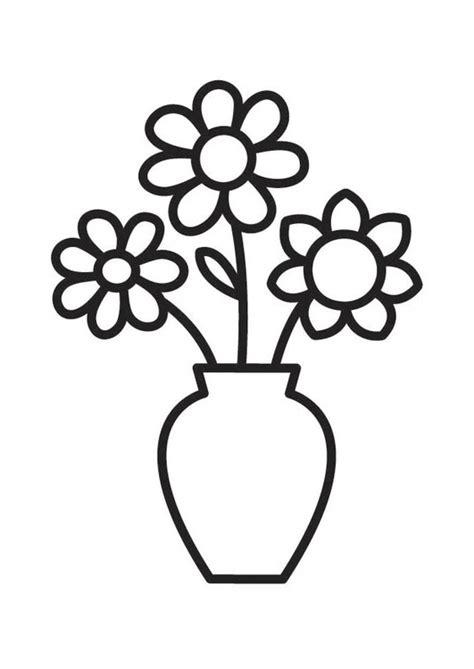 dibujo para colorear jarr 243 n con flores jarron de flores jarrones y dibujos para