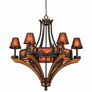 Rustic, Chandeliers, Aspen, Treescape, Chandelier, With, 6, 6, Lights